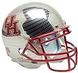 NCAA Houston Cougars Carbon Fiber at Chrome Mini Helmet, One Size, White