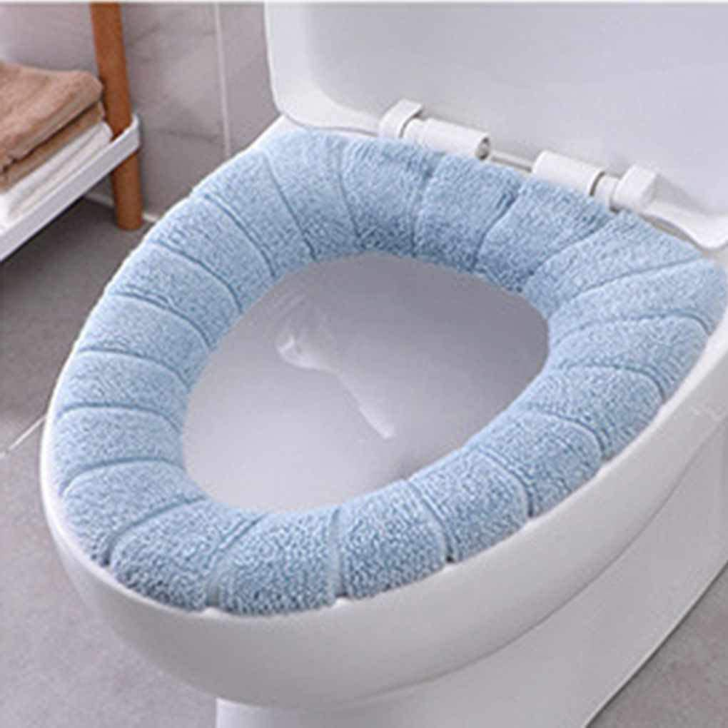 O Shaped Toilet Seat Cover Washable Thicken Plush Cover Warmer DD