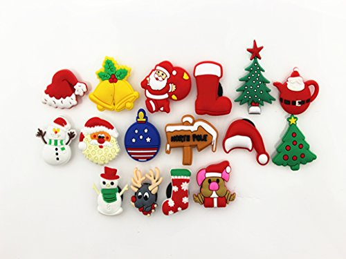 16pc Christmas Day Shoe Charms for Croc & Bracelet Wristband Kids Party Birthday Gifts #079