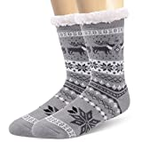Mens Slipper Socks Fuzzy Warm Thick Heavy Fleece lined Christmas Stockings Fluffy Winter