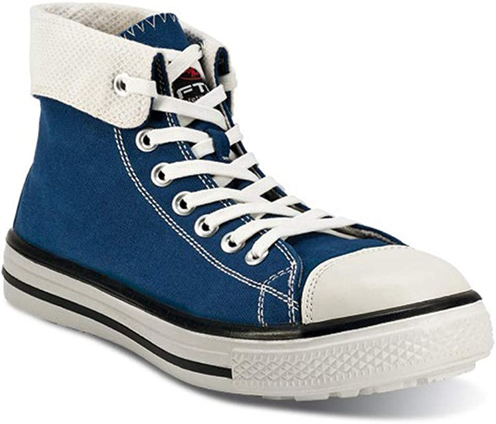 FTG Blues High - Basket de sécurité Bleu S1P Style Converse Safety Shoes