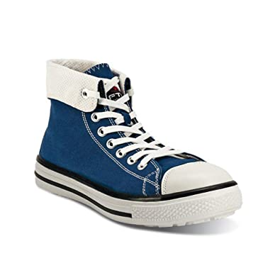 FTG Blues High Basket de sécurité Bleu S1P Style Converse Safety Shoes