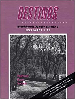 Printables Destinos Worksheets destinos workbookstudy guide 1 lecciones 26 mcdougal littel 26