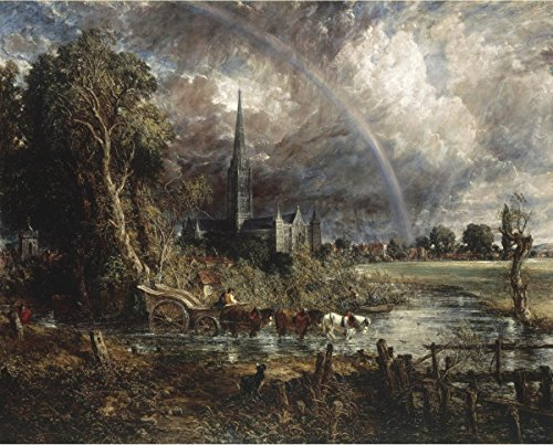 Gifts Delight Laminated 29x24 Poster: John Constable - Salisbury Cathedral from The Meadows