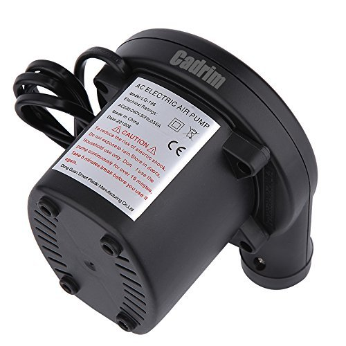Cadrim Electric Air Pump, Air Pump 110V AC/12V Portable Air Pump for Inflatable Air Mattress Raft Bed Boat Pool Toy with 3 Nozzles (Only for Car Lighter Use)
