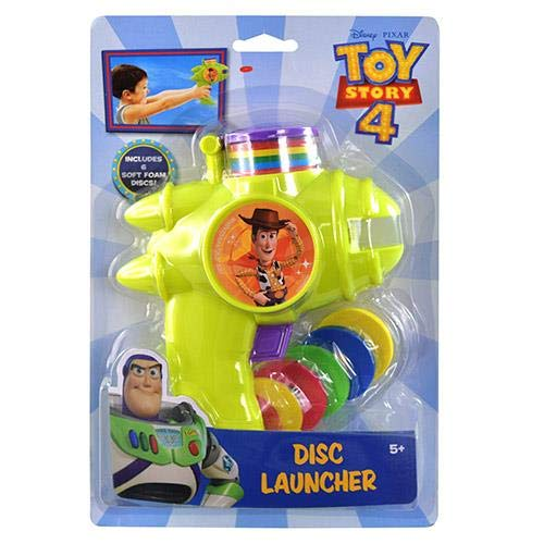 Toy Story 4 Foam Disc Launcher, Blue, Red, Yellow, Green -