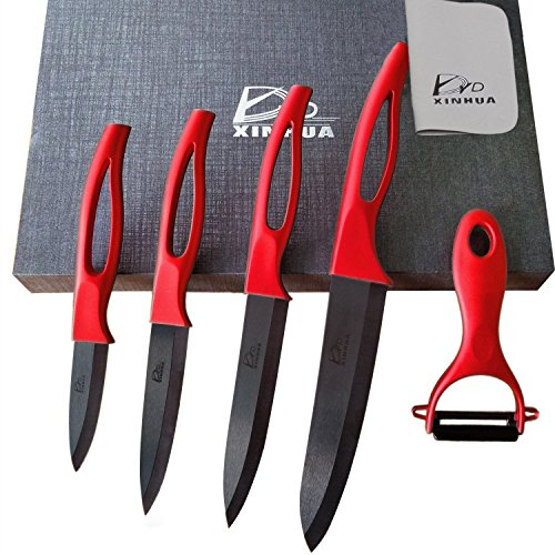 - 5 Piece Ceramic Knife Set with Sheaths&Gift Box,Super Sharp and Rust Proof and Stain Resistant (6