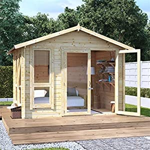 8x10 Log Cabin Kit For Garden 28mm