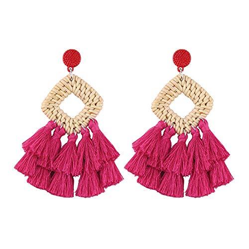 BEST LADY Tassel Earrings Women - Statement Handmade Dangle Fringe Earrings Women, Idea Gift Sister, Wife Friends