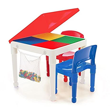 Amazon.com: Tot Tutors LEGO-compatible 2-in-1 Construction Table and ...