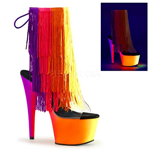 Pleaser RAINBOW-1017TF-7 Clr-Multi/Neon Multi
