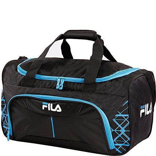 Fila Fastpace Small Sports Duffel Gym Bag, Black/Blue, One Size