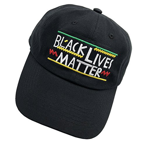 Shengyuan Lin Black Lives Matter Dad Hats Baseball Cap 3D Embroidered Adjustable Snapback Cotton Unisex Black Black 3d Embroidered Hat