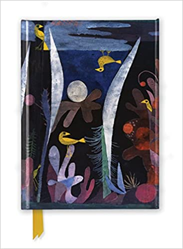 paul klee landscape with yellow birds foiled journal flame tree notebooks