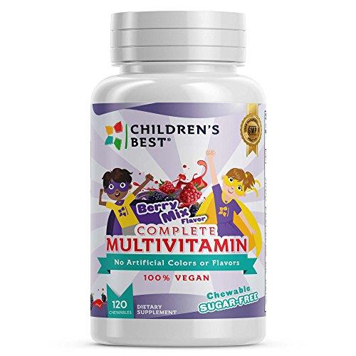 Children's Best Complete Sugar-Free Multivitamins for Kids - Amazing Berry Bust Flavor - 100% Vegan Based by Children's Best