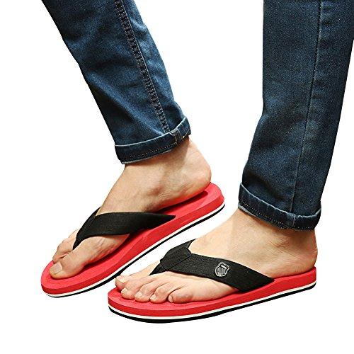 Fereshte Heren Zomer Comfort Sport Slippers Strand Sandaal Casual Slipper Platte Schoenen Rood