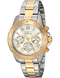 Women's 'Wildflower' Quartz Stainless Steel Casual Watch, Color:Two Tone (Model: 21733)