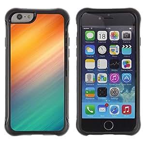 iKiki Tech / Estuche rígido - Lines Aurora Borealis Northern Lights Teal - Apple iPhone 6 PLUS 5.5
