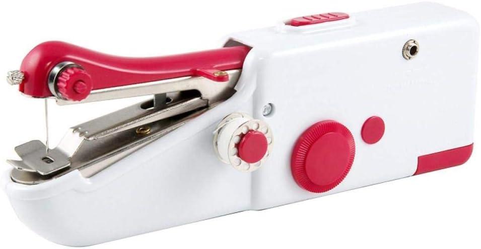 JZUO 21x6.5x3.5cm Quick Handy Stitch Mini máquina de Coser portátil para Ropa de Tela B