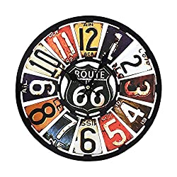 fengdu Decorative Wall Clock 14 Inch Silent Non-Ticking Retro Wood Wall Clocks for Home Office School Decor Battery Operated Clocks