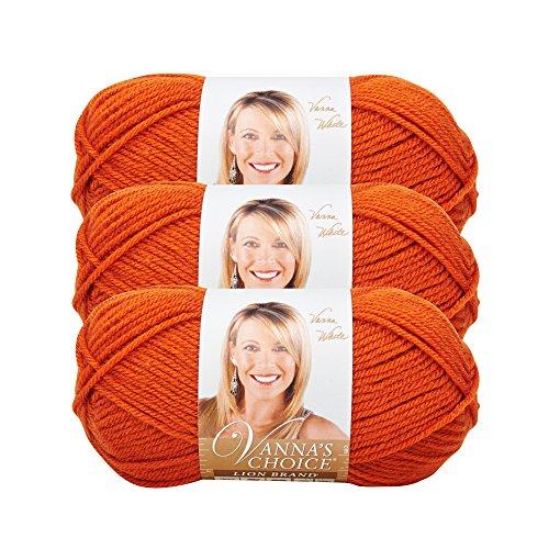 (3 Pack) Lion Brand Yarn 860-134A Vanna's Choice Yarn, Terracotta