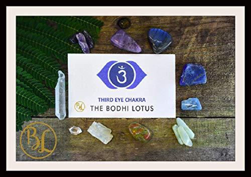 (THIRD EYE CHAKRA Gemstone 10 Kit Healing Third Eye Chakra Crystal Third Eye Chakra Crystal Set Intention Stones Lithiotherapy Third Eye Set)