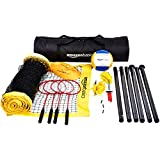 AmazonBasics Outdoor Volleyball And Badminton Combo Set With Net