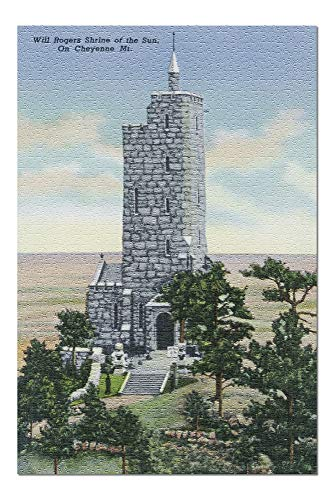 (Colorado Springs, Colorado - View of the Will Rogers Shrine of the Sun, Cheyenne Mt. (20x30 Premium 1000 Piece Jigsaw Puzzle, Made in)