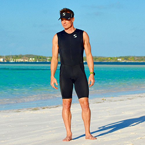 Synergy Men's Triathlon Trisuit (Black/Black, Medium) by Synergy (Image #4)