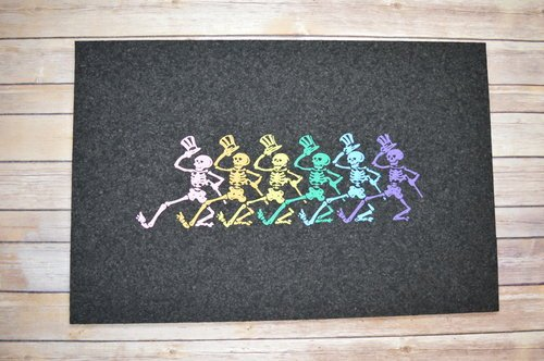 East Coasters Recycled Rubber Grateful Dead Skeletons Door Mat