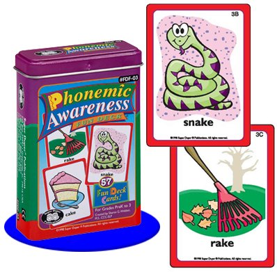 Super Duper Publications Phonemic Awareness Fun Deck Flash Cards Educational Learning Resource for - Rhymes Phonemic Awareness