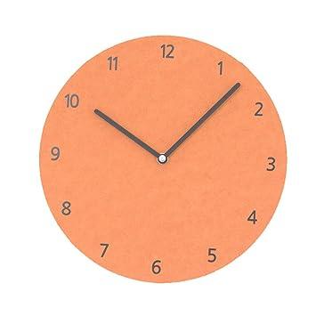 HENJH Reloj de Pared de Madera de 10 Pulgadas, silencioso, Redondo, Digital,