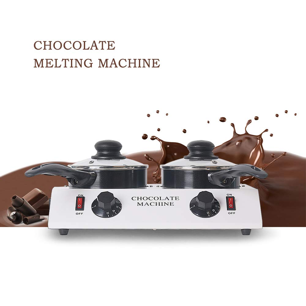 TRUSTME 80W Mini Electric Chocolate Melting Machine Ceramic Non-Stick Double Pot Tempering Cylinder Melter Pan 110V/60Hz by TRUSTME (Image #7)