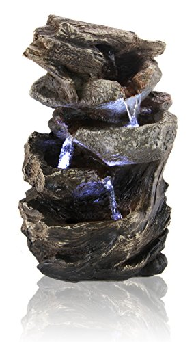 Hayal 3 Tier Cascading Tabletop Water Feature with Lights
