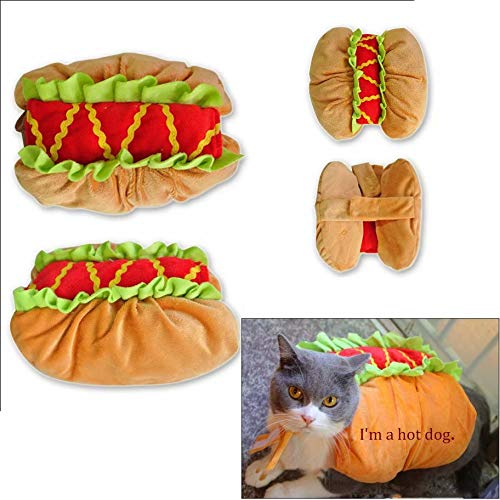 qiaoniuniu pet Halloween Costumes for Dogs Cats hot Dog Clothes Puppy Christmas Party Photograph(Size:Small)]()