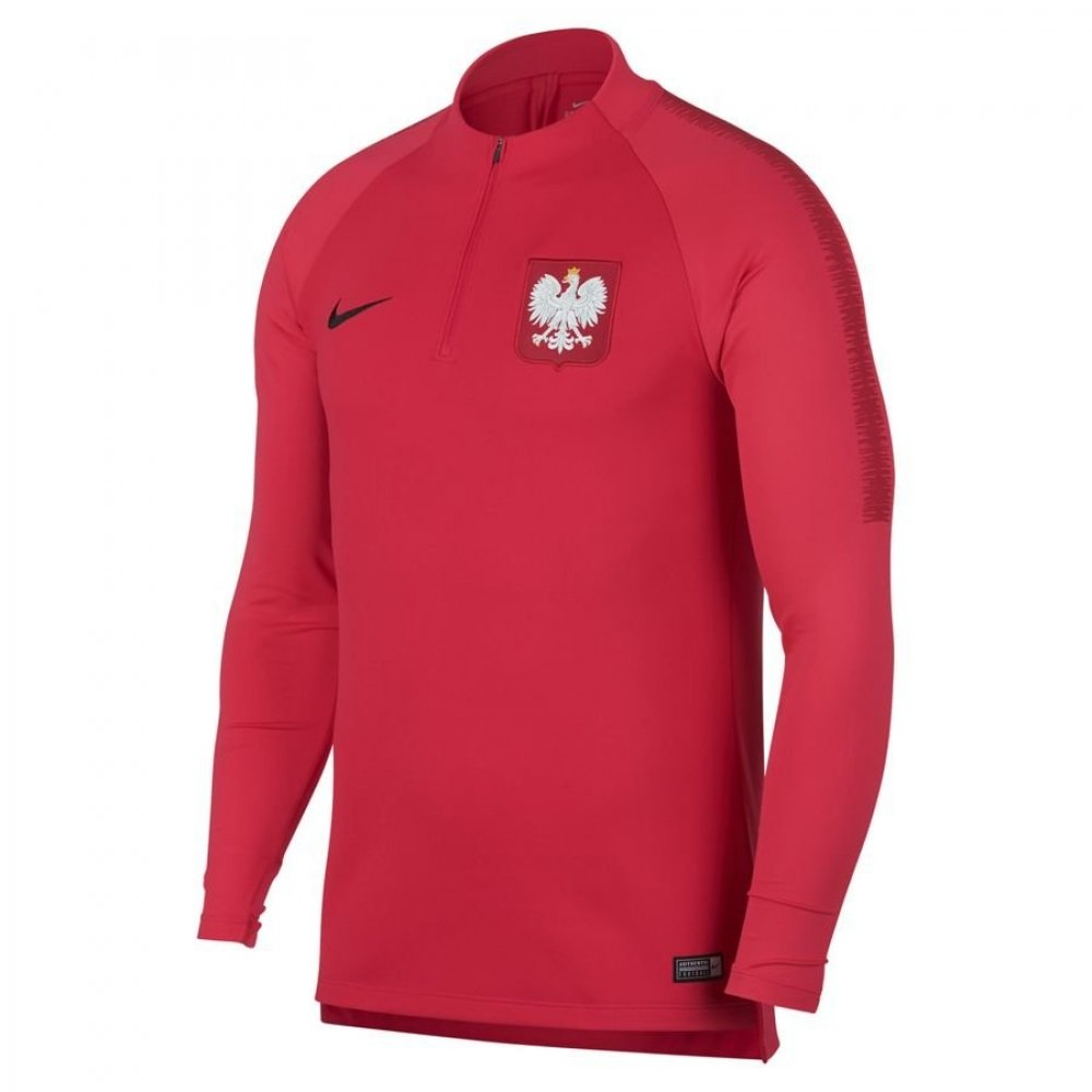 2018-2019 Poland Nike Squad Drill Training Top (Red) B07C4NG35DRed Medium 38-40\