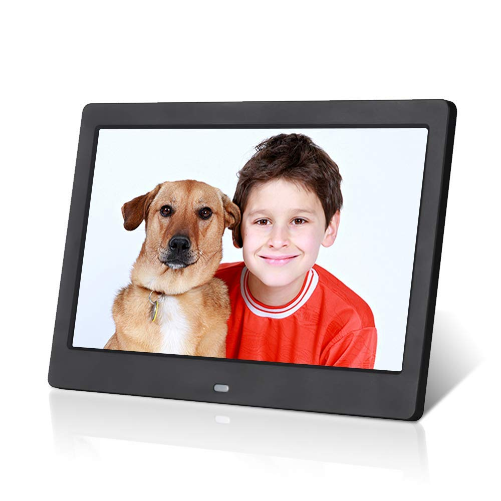 Digital Photo Frame 10 inch, Electronic Photo Frame with HD LED Display,Support USB/SD/MMC Card Playback and 720P/1080P Photo, 1080P Video Files,Electronic Photo Frame with Infrared