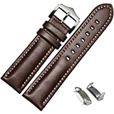 For Samsung Galaxy Gear S2 , Lucoo® Genuine Leather Watch Band Strap + Adapters For Samsung Galaxy Gear S2 R720 (Brown)
