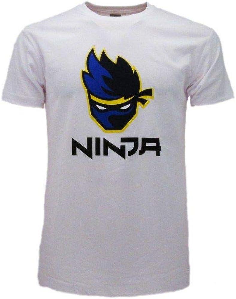 Fashion UK T-Shirt Ninja Originale Streamer Youtuber Bianca Maglia Ufficiale