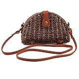 Straw Woven Satachel Women Beach Travel Crossbody Bag Shoulder Bag