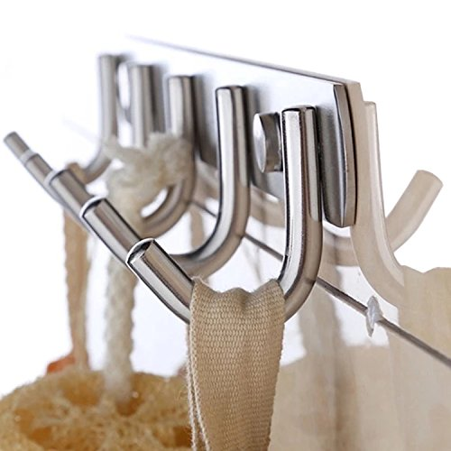 K-Steel Stainless Steel Bifurcation Shape Clothes Robe Hooks Wall Mounted Towel Coat Hanger Rack outlet