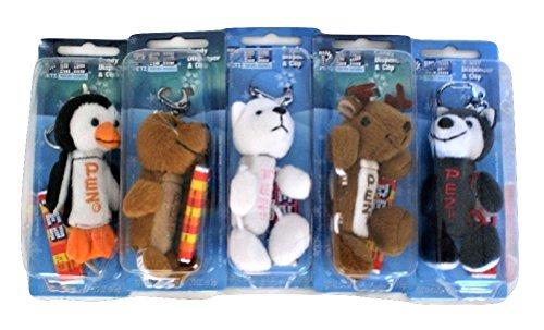 Pez Petz Arctic Babies Plush Candy Dispenser Key Chain complete set of 5