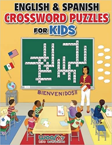 English And Spanish Crossword Puzzles For Kids Reproducible