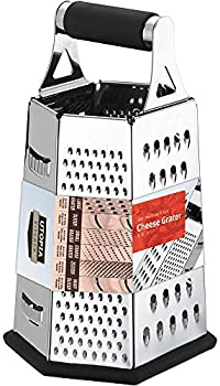 Utopia 6-sides 9.5 inch Height Kitchen Cheese Grater Vegetable Slicer