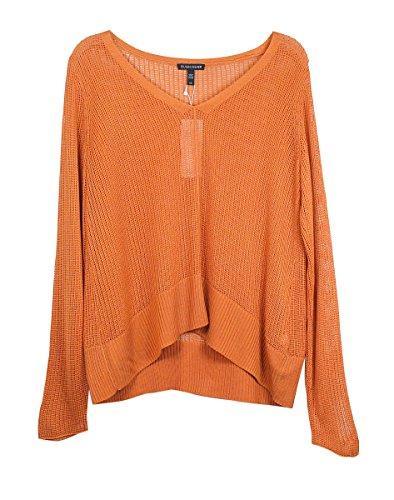 Eileen Fisher Pumpkin V-Neck Sheer-Knit (Sheer Knit Sweater)