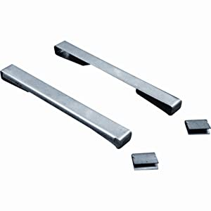 Prime-Line Products H 3934 Window Security Clips with 4-Inch Louvered Glass, Stainless Steel,(Pack of 10)