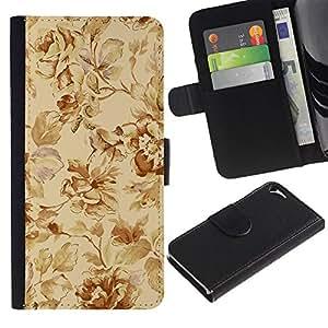 KingStore / Leather Etui en cuir / Apple Iphone 5 / 5S / Patrón clásico