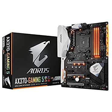 GIGABYTE AORUS GA-AX370-Gaming 5 AMD Ryzen AM4 X370 RGB FUSION SMART FAN 5 HDMI M.2 U.2 USB 3.1 Type-C ATX DDR4 Motherboard