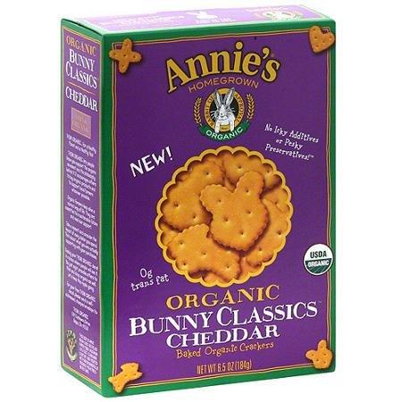 Organic Cheddar Bunny Cl Cracker 6.50 Ounces (Case of 12)