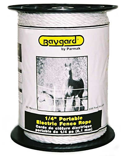Parker Mccrory Baygard Electric Fence 1/4-Inch White Rope...